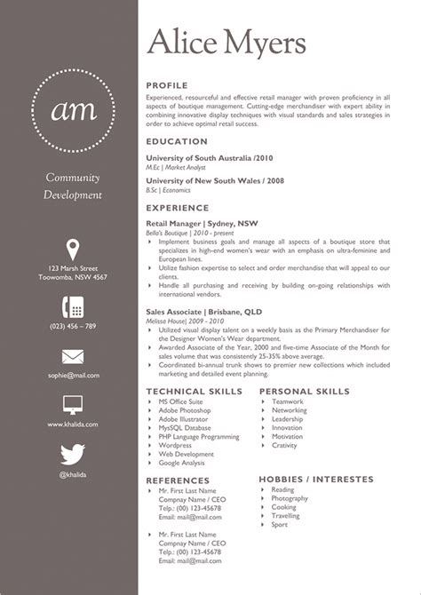 Resume Symbols by Flat Resume Template 31 Free Sles Exles Format