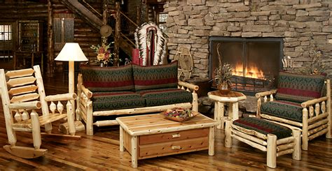 Log Living Room Furniture | norseman sofa rustic furniture mall by timber creek