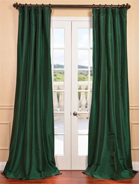 taffeta curtains clearance emerald green faux silk taffeta curtain sku ptch