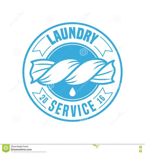 laundry room vector template logo stock vector illustration