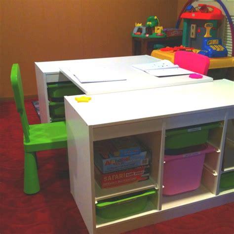 ikea toy storage hacks an ikea hack two trofast shelves one spare board desk