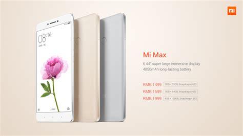 phablet terbaru xiaomi mi max harga dan spesifikasi mei