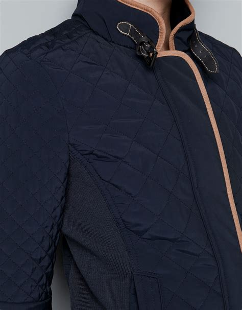 Quilted Jacket Zara by Zara Quilted Jacket In Blue Lyst