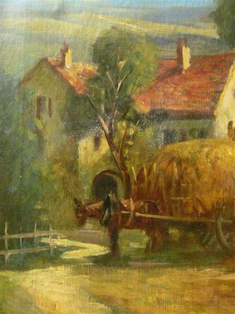farm scene oil painting  canvas landscape art