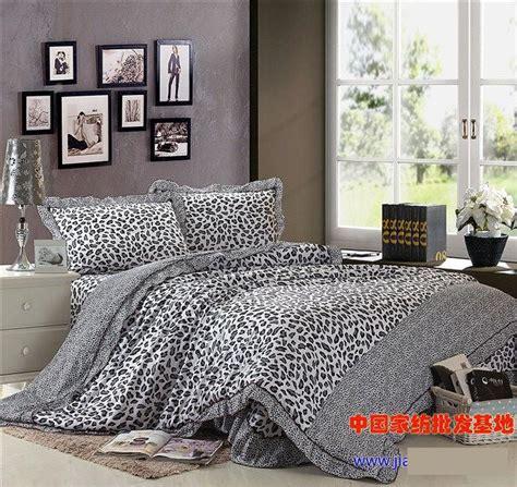 Leopard Print Bedding Set Grey Gray Leopard Print Korean Ruffle Bedding Set Quilt Duvet Cover Bedsets Bed Sheet