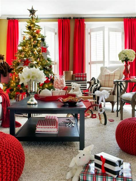 retro red black and white family room hgtv photo page hgtv