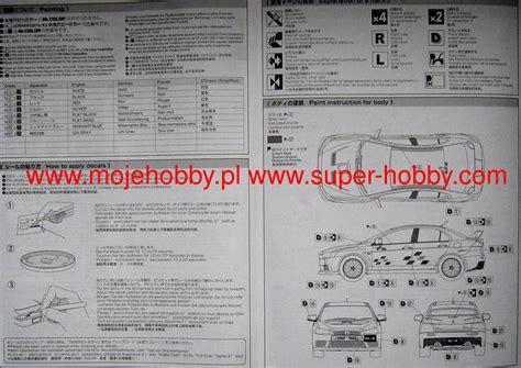 124 Mitsubishi Lancer Evolution X Ralliart Ver Aoshima lancer evolution x ralliart ver r model do sklejania
