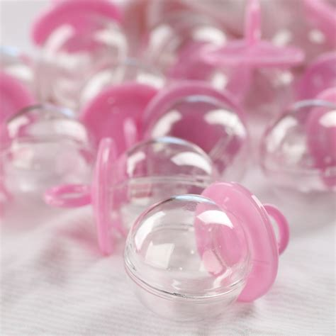 Pink Baby Shower Favors by Fillable Pink Pacifier Baby Shower Favors It S A