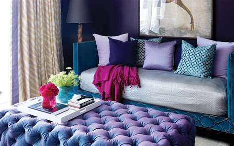 2018 pantone color of the year ultra violet living room and bedroom painted