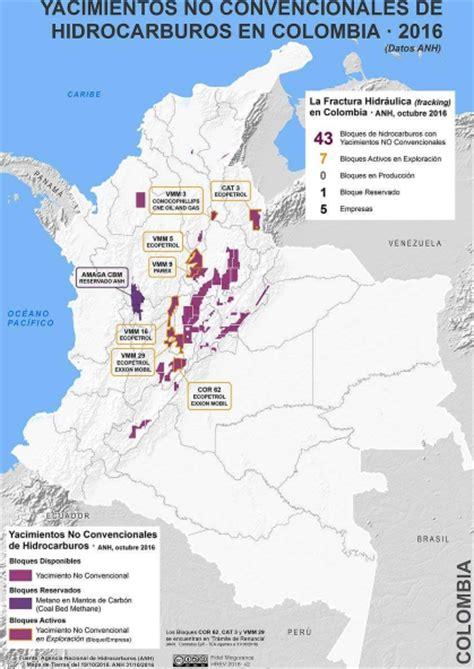 quienes declaran en colombia 2016 el mapa del fracking en colombia