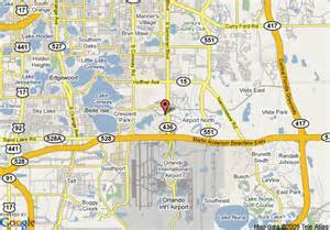 airport in florida map map of crowne plaza orlando airport orlando