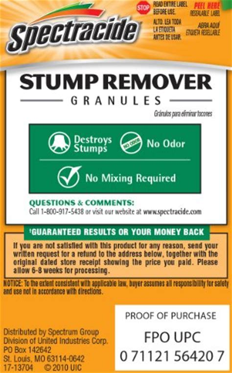 spectracide 66420 stump remover 1 pound granules