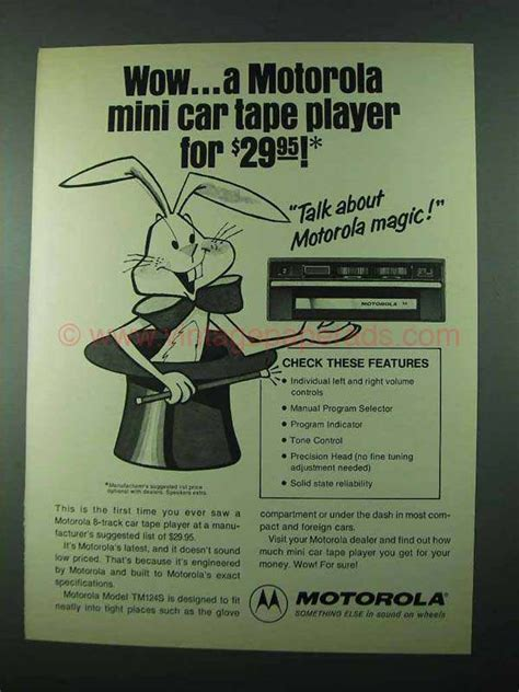 Cq Live Wow Retro Part Two by 1975 Motorola Model Tm124s 8 Track Car Player Ad