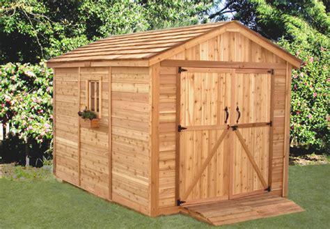 spacemaker cedar storage shed sm