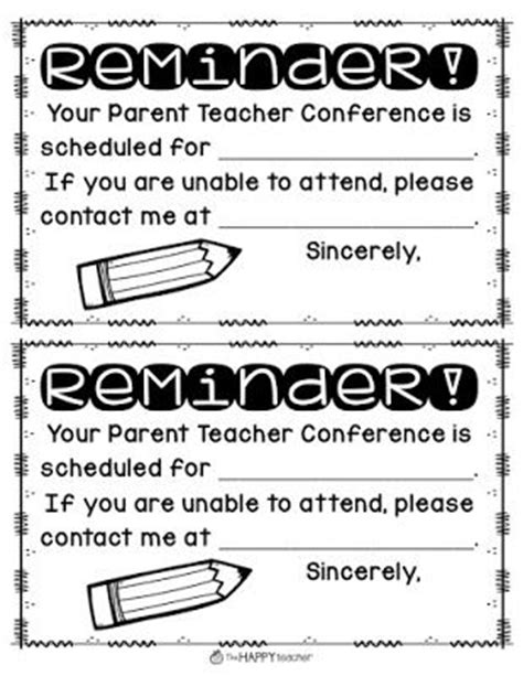 parent teacher conference tip send home parent teacher