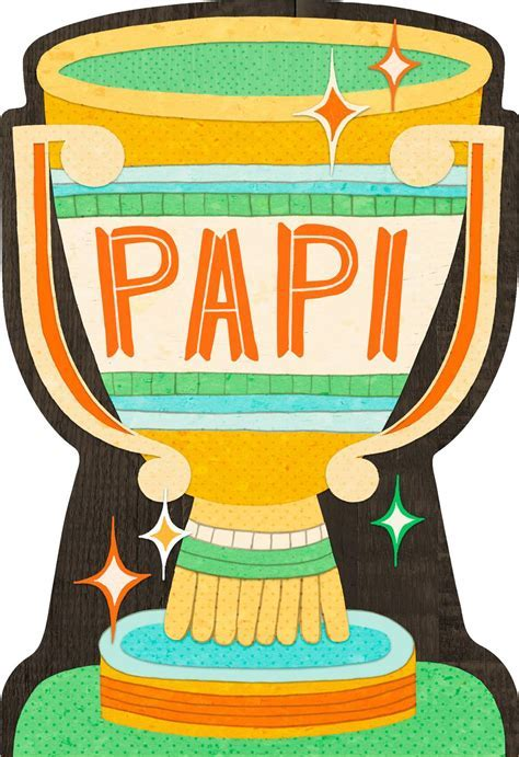 Por Papi Trophy Spanish Language Father's Day Card