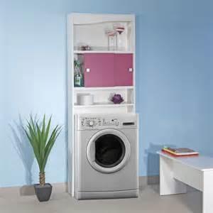 meuble wc ou machine 224 laver blanc fuchsia 1301635