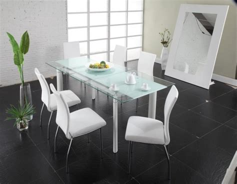 glass dining tables with extensions zuo