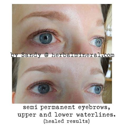 semi permanent eyebrows upper and lower waterlines