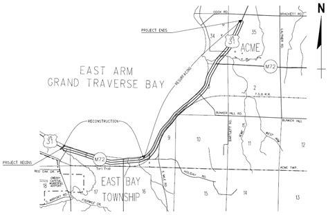 mdot construction map mdot meeting nov 13 on us 31 east bay township