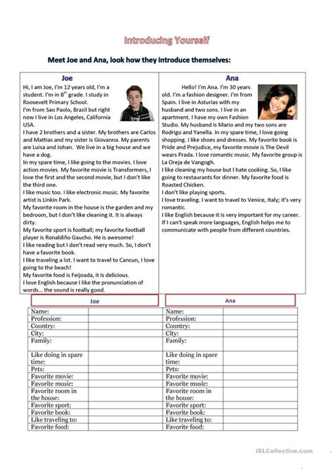Esl Introducing Yourself Worksheet by 64 Free Esl Introducing Worksheets
