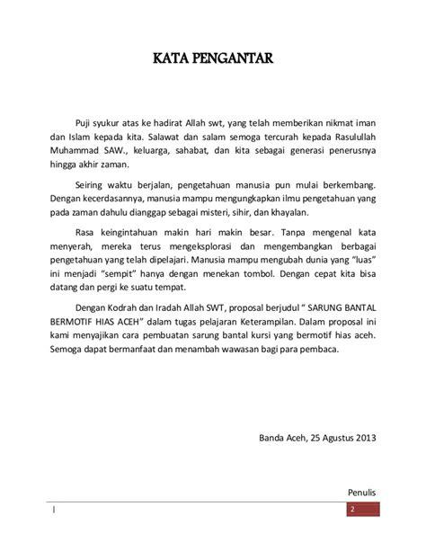 Proposal Sarung Bantal Kursi Bermotif Hias Aceh