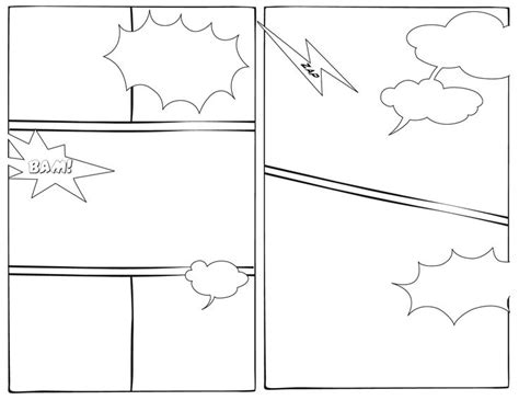printable blank comic template for the blank is a fictional character that appears in comic