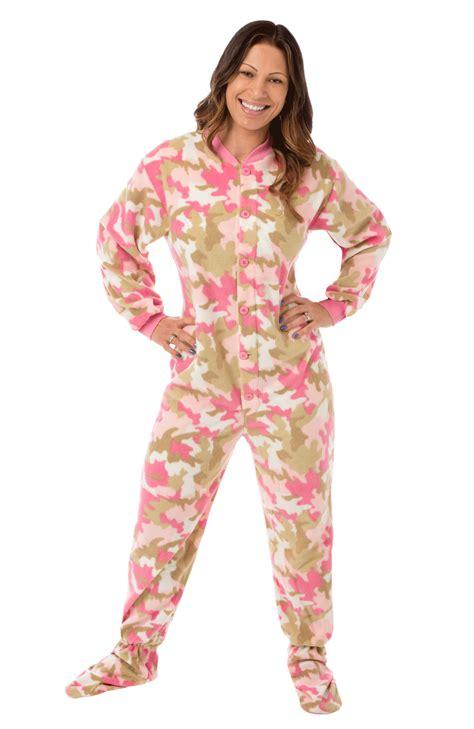 footie pajamas big pjs pink camo footed pajamas for