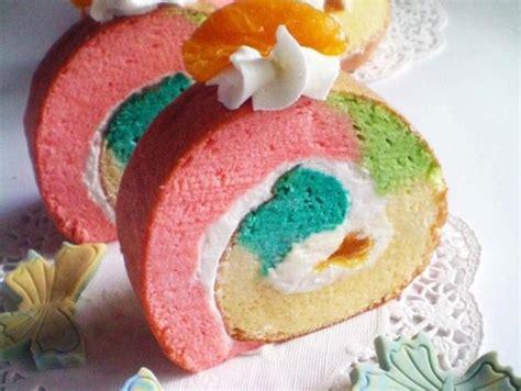 membuat bolu gulung rainbow membuat bolu gulung rainbow cantik ga pakek resep