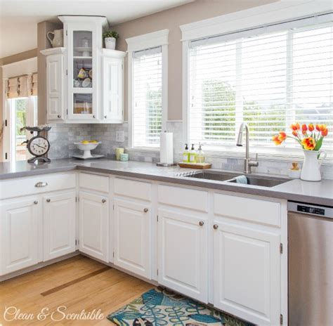 cleaning painted kitchen cabinets white kitchen reveal home tour clean and scentsible