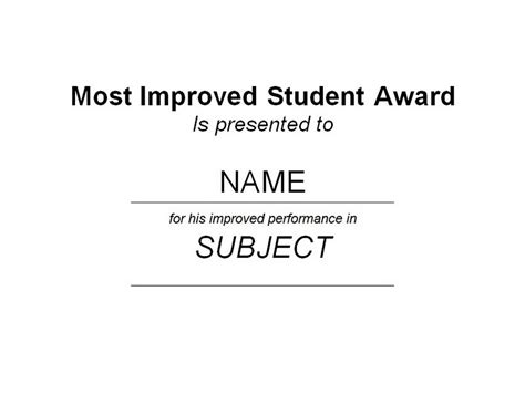 most improved student certificates finger foods pinterest