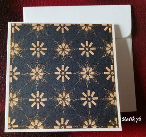 jual kartu ucapan handmade batik76 motif truntum hitam gold size s kartu ucapan batik kartu