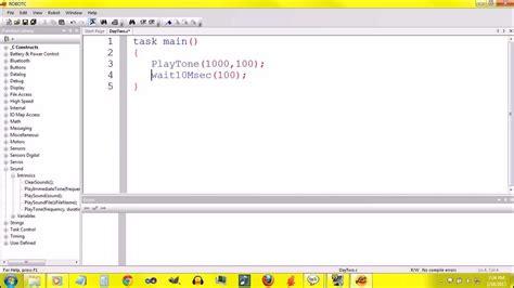 lego robotc tutorial robotc for nxt tutorial part 2 youtube