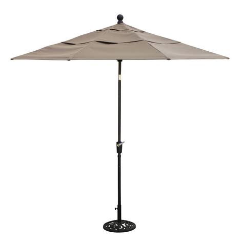Thomasville Messina 9 Ft Patio Umbrella In Cocoa Fg Home Depot Patio Umbrella