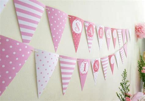 Bunting Flag Bendera Ulang Tahun Pesta Tema Pink diy dekorasi pesta ulang tahun keren dengan bujet terbatas