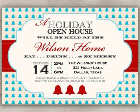 printable christmas open house invitations open house parties house party and open house on pinterest