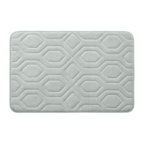 light grey bathroom rugs bouncecomfort turtle shell light gray 17 in x 24 in