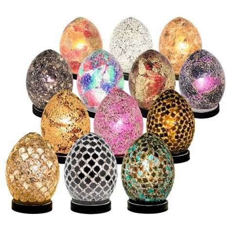 Mosaic Glass Egg L Mosaic Glass Mini Egg Light Egg Lights