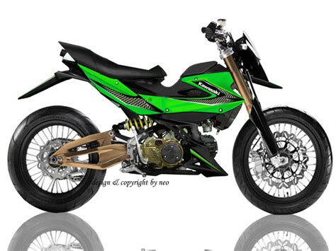 Kaos Motor Athlete kawasaki athlete modifikasi