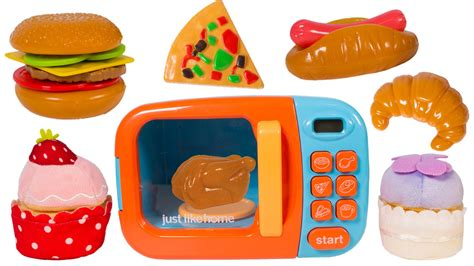 food toys just like home microwave oven kitchen set cooking playset food cutting