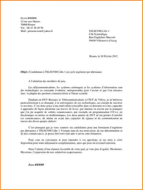 Lettre De Motivation Stage Génie Civil 8 lettre de motivation dut tc lettre de demission