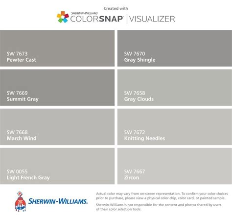 sherwin williams gray colors i found these colors with colorsnap 174 visualizer for iphone