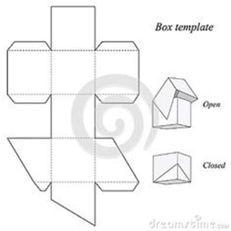 template for box with lid pyramid box template scatole