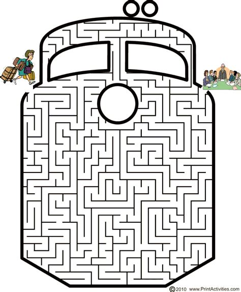 Printable Train Maze   mazes on pinterest