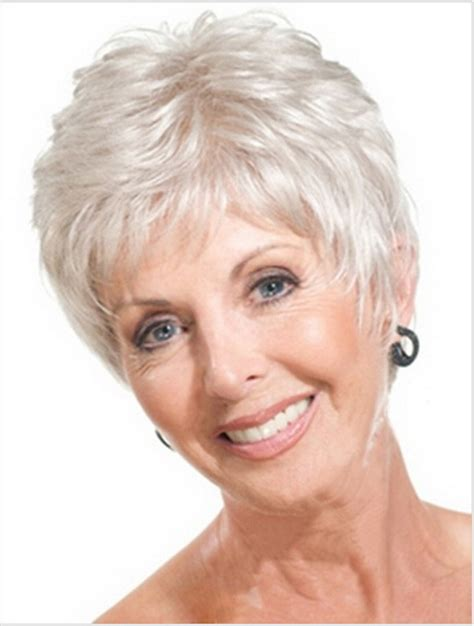 short hairstyles 2014 over 60 with high and low lights young women with gray hair styles