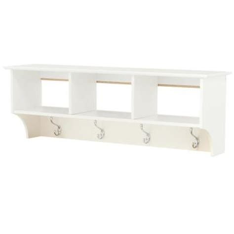 White Coat Rack Wall Mounted by Prepac Monterey Wall Mounted Coat Rack In White Wec 4816