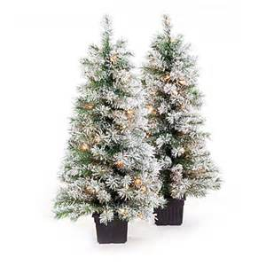 view 3 5 pre lit artificial urn christmas trees white