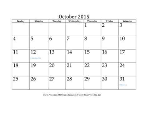 printable calendar october 2015 with holidays printable october 2015 calendar