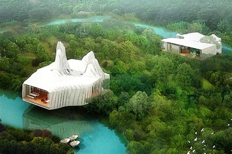 10 Beautifully Strange Buildings I Want To See by 10 Strange Looking Homes Of The Future Impact Lab