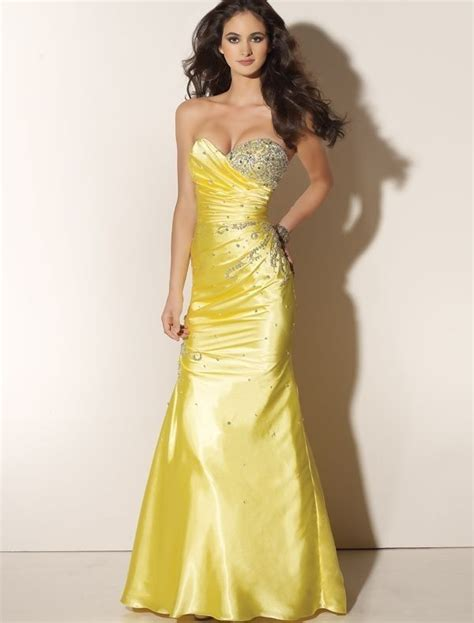 Dress Yellow yellow prom dresses dressed up